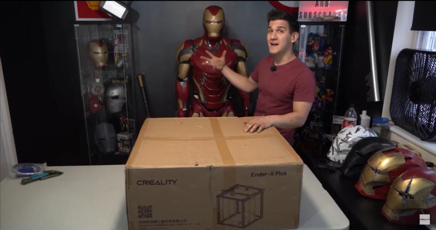 Iron Man prosto z drukarki Ender 5 Plus (wideo)