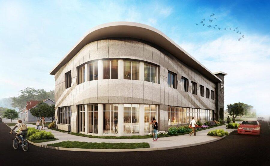 Firma Branch Technology wykonała elewacji budynku dla instytucji finansowej