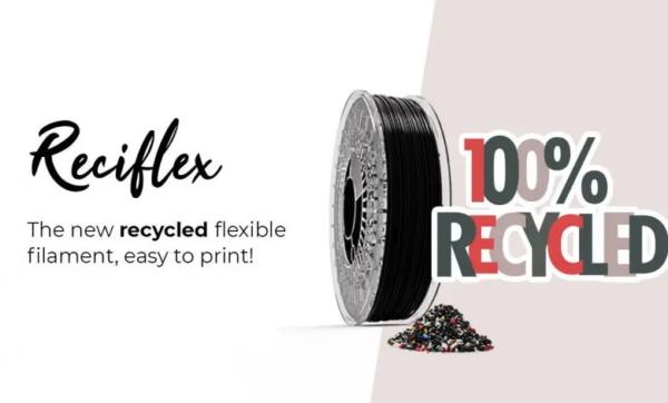 Recreus wprowadza w 100% pochodzący z recyklingu filament Reciflex TPU